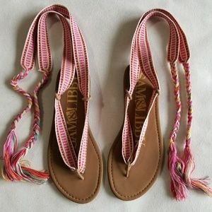 Sam&Libby Tie-strap Sandals
